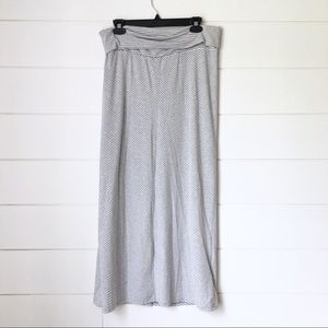 OLD NAVY MATERNITY Grey Striped Maxi Skirt